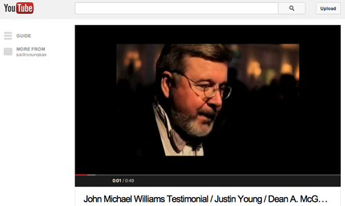 John Michael Williams YouTube Video